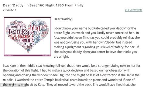 Thank You Note To Daughters Writes Thank You To Who Entertained Autistic On Flight Daily Mail
