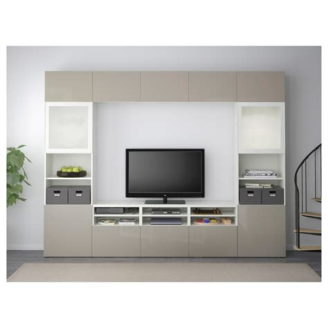 Ikea Besta Storage Combination With Doors And Drawers | best 197 tv storage combination glass doors white selsviken