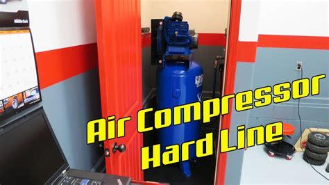 quincy qt 54 shop air compressor line install