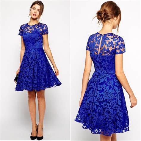 Shorts 40709 Blue Lace Side S 25 best ideas about royal blue lace dress on