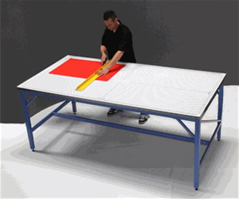Table Top Cutting Mat by Iron 4x8 Production Cutting Table With Rhino Cutting Mat