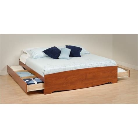 king bookcase storage bed king bookcase platform storage bed in cherry cbk 8400 kit