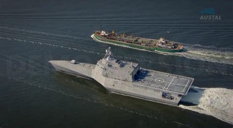 trimaran ship video austal s independence variant littoral combat ship