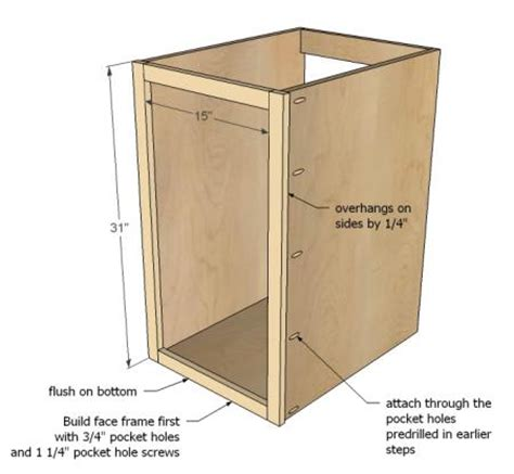 woodwork how to build a base cabinet pdf plans