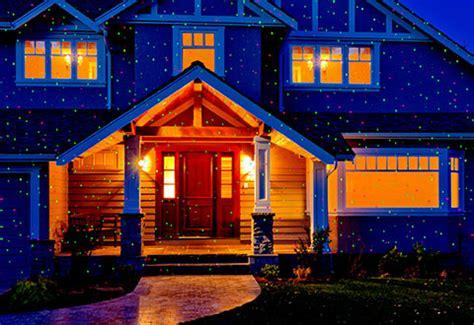 christmas lights projected on house landscape laser light projector sharper image