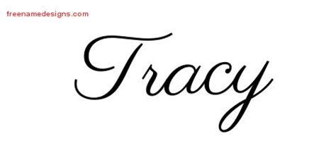 tracy tattoo designs classic name designs tracy printable free name