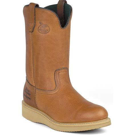 mens ranch boots mens farm ranch wellington work boots ebay