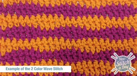 crochet wave stitch free pattern crochet stitches 2 color wave stitch crochet stitch 30 new stitch a day