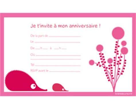 modele de carte invitation anniversaire