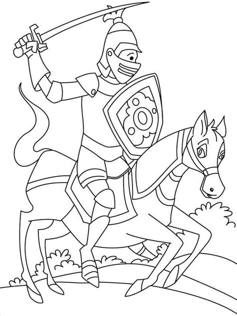 coloring book pages knights knights coloring pages download and print knights