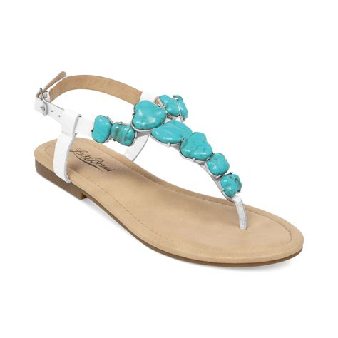 turquoise sandals lucky brand womens flat sandals in blue white