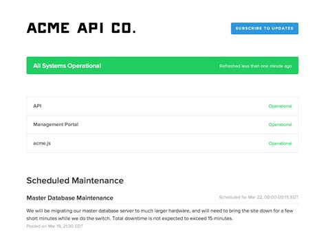 system maintenance notification template image gallery scheduled downtime