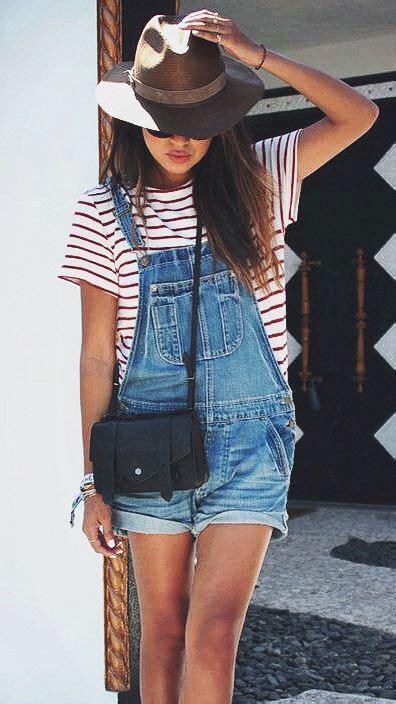 Overall Stripe Blouse striped denim overalls lookbook