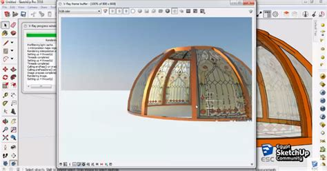 tutorial sketchup pro 2016 how to draw dome in sketchup dome modeling sketchup