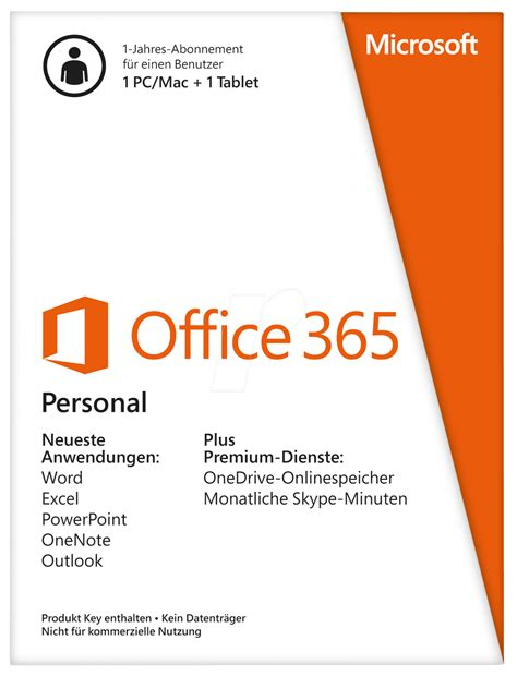 Ms Office 365 Personal Office 365 P Microsoft Office 365 Personal 1 Year At Reichelt Elektronik