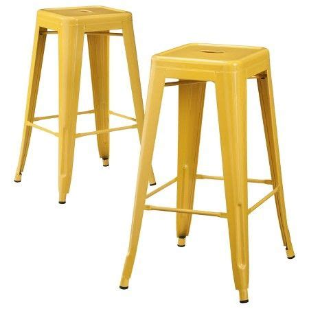 Carlisle Metal Bar Stool Set Of 2 by Carlisle Metal 29 Quot Counter Stool Yellow Set Of 2