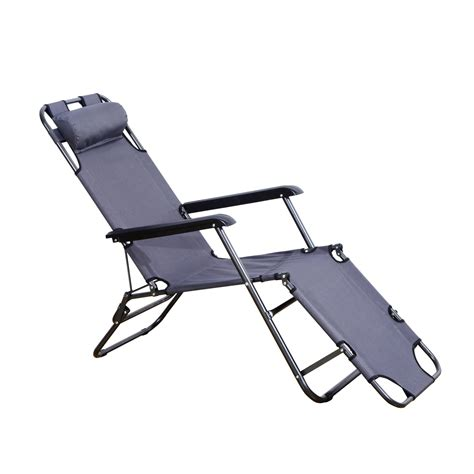 foldable recliner outsunny folding lounge chair chaise portable recliner sun