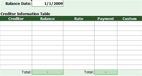 Debt Reduction Excel Spreadsheet by Free Debt Reduction Calculator