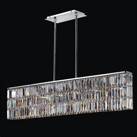 Rectangular Shaped Chandeliers Rectangular Pendant Chandelier With Rectangular Shaped Reflections 600 Glow 174 Lighting