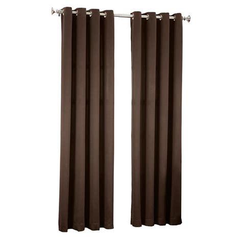 54 curtain panels sun zero chocolate gregory room darkening grommet top