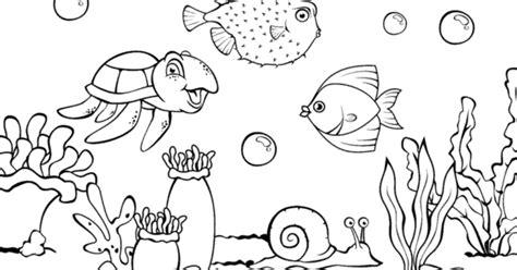 Mewarnai Hewan Laut mewarnai pemandangan bawah laut contoh gambar mewarnai mewarnai gambar