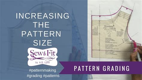 pattern grading and resizing grading up a fashion pattern to a larger size youtube