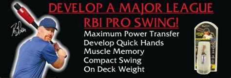 rbi pro swing rbi pro swing baseball training aid hittingworld com