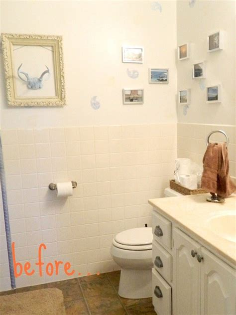 How To Paint Bathroom Wall Tiles by Painting Bathroom Tile Casual Cottage