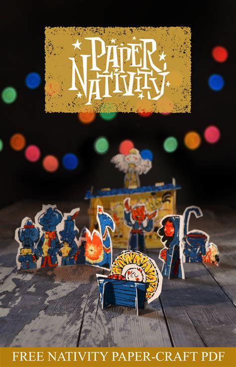 Nativity Paper Craft - free printable paper nativity craft money saving 174