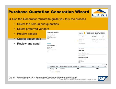 sap quotation layout purchase quotation quotation for purchase of computer 5