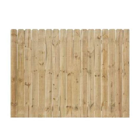6 ft x 8 ft pressure treated pine ear fence panel