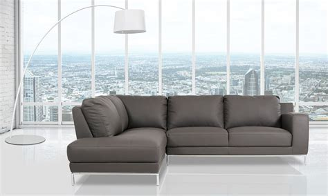 Eco Sofas by Primrose Modern Eco Leather Sectional Sofa
