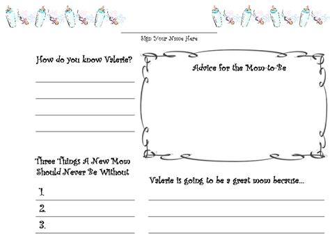 template for baby shower guest book customized baby shower guestbook guest book pages