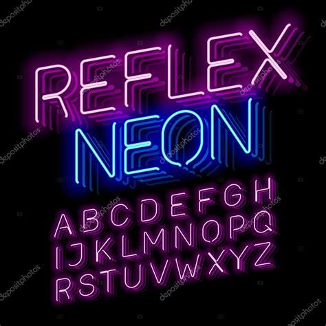 free download neon typography reflex neon font stock vector 169 alhovik 122758748
