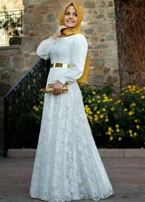 Gaun Pesta Prisket Brukat Cantik model gaun pesta muslimah nan anggun