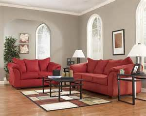 Ashley Darcy Loveseat Ashley Furniture Darcy Salsa Living Spaces Sofa And