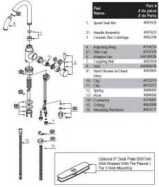 glacier bay kitchen faucet diagram kohler sink faucet diagram kohler free engine image for
