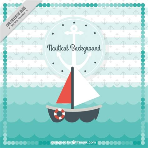 boat drawing cute cute background of boat and waves vector free download