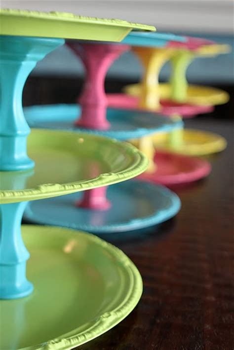 dollar store craft ideas a twist on tiered trays color pop dollar store crafts