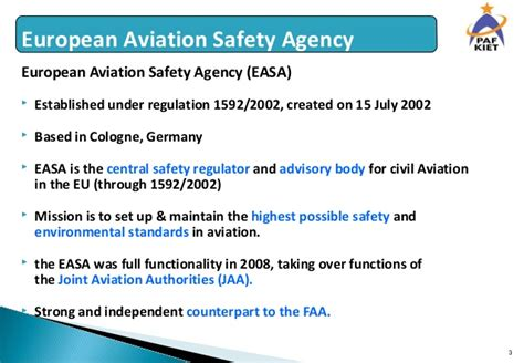 Mba In Aviation Management In Germany by European Aviation Safety Agency Easa Eu Regulation