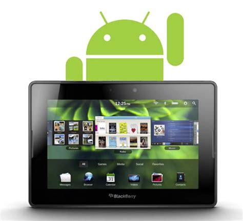 blackberry playbook android to support android apps for blackberry playbook slashgear