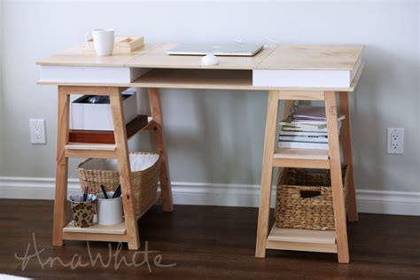 how to build a desk from scratch how to build a sawhorse desk for both rustic and modern offices