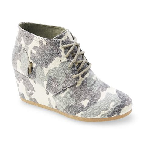 Boots Fashion Ad An 30 Wedges Hitam route 66 s emerson camouflage wedge bootie shoes