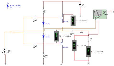 transistor lifier multisim transistor lifier multisim 28 images need help in designing a 2 stage bjt lifier ecen 1400