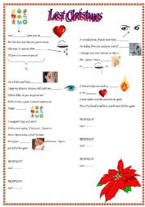 last christmas lyrics printable version english worksheets quot last christmas quot lyrics to complete