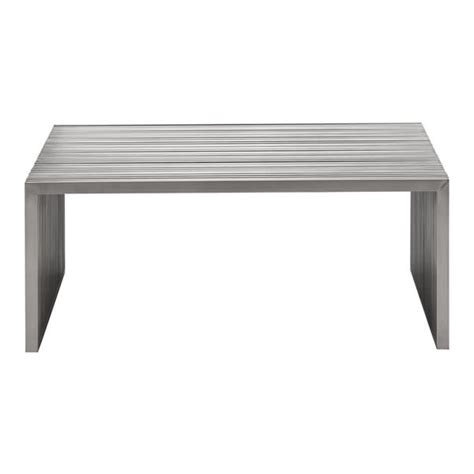 Square Metal Coffee Table by Slatted Steel Square Coffee Table Moss Manor A Design House