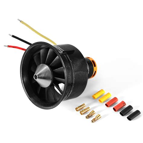 70mm ducted fan unit 64mm duct fan 3500kv brushless motor 12 vanes unit for rc