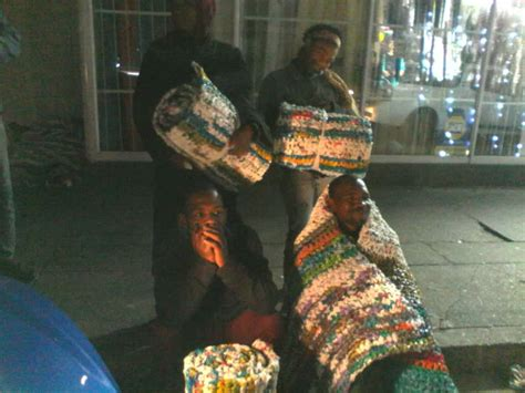 Mats From Plastic Bags - how these pe residents turn plastic bags into sleeping