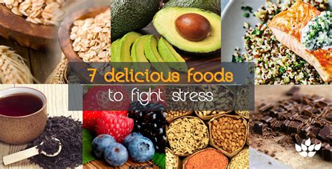 7 Foods To Combat Stress by 7 Alimenti Gustosi Per Combattere Lo Stress