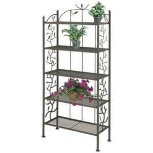 Bakers Rack For Plants Deer Park Ironworks Vine And Leaf Bakers Rack Br109